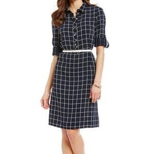 Alex Marie Shift Long Sleeve Plaid Dress Size 14